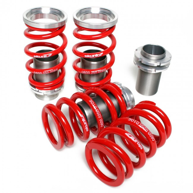 Skunk2 Racing  Adjustable Sleeve Coilovers Red 02-05 Honda Civic Si