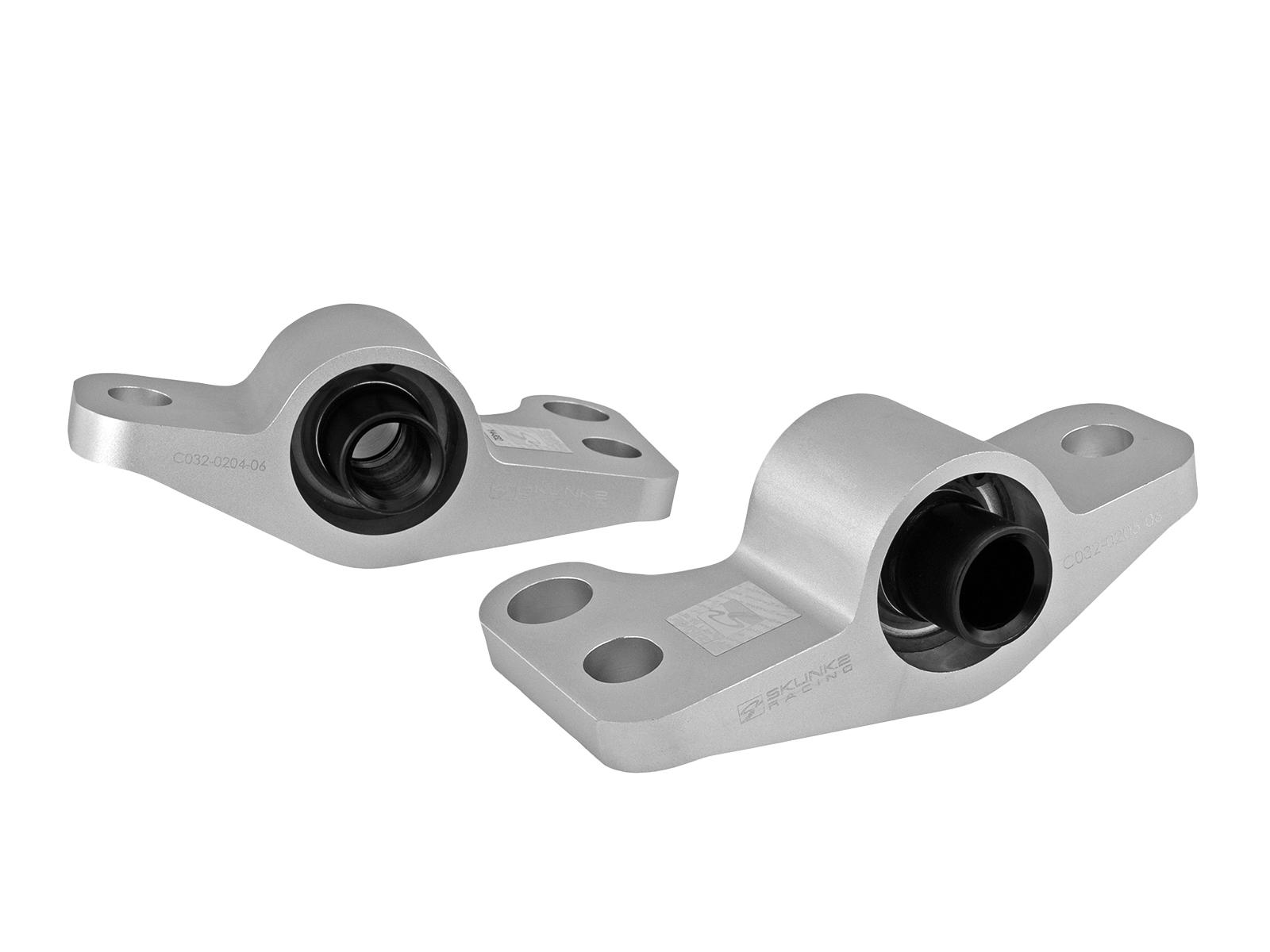 Skunk2 Racing  Billet Aluminum Compliance Bracket w/ Spherical Bearings Raw 96-00 Honda Civic Ex EK