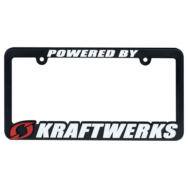 KraftWerks  Powered by Kraftwerks License Plate Frame