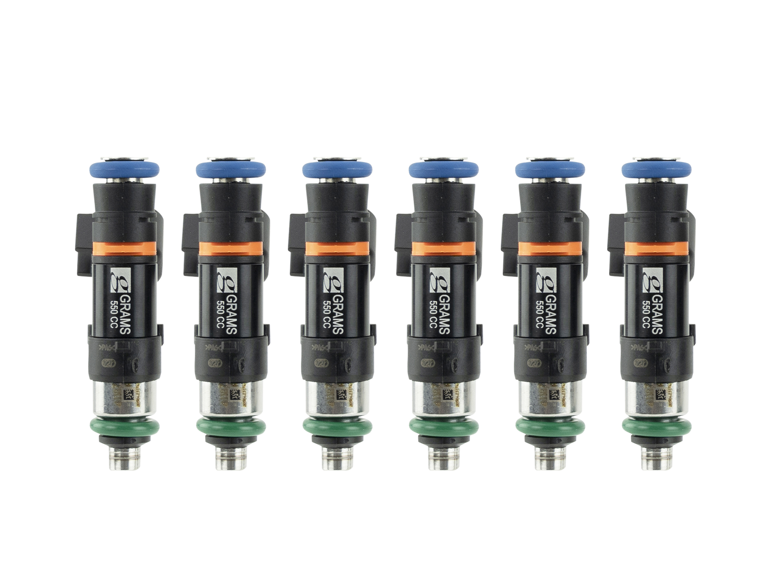 Grams Performance Nissan Skyline GT-R R32, R33, R34 RB26 Top Feed Only 14mm 550cc 52 lbs/hr Injector Kit G2-0550-0705